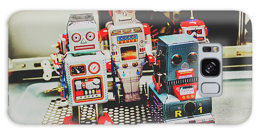 Robotic Galaxy S8 Case featuring the photograph Robots Of Retro Cool by Jorgo Photography - Wall Art Gallery