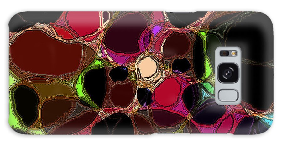 Abstract Galaxy S8 Case featuring the digital art Rock Figment by Rachel Christine Nowicki