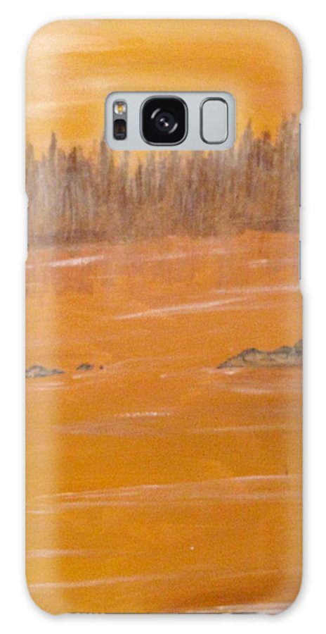 Northern Ontario Galaxy S8 Case featuring the painting Rock Lake Morning 2 by Ian MacDonald