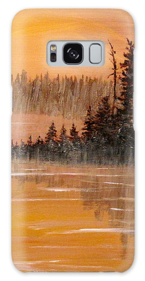 Northern Ontario Galaxy Case featuring the painting Rock Lake Morning 3 by Ian MacDonald
