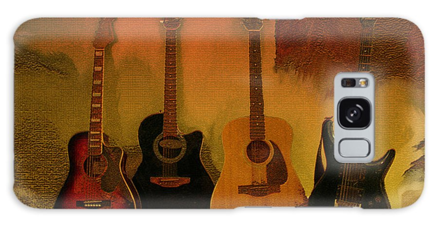Music Galaxy S8 Case featuring the photograph Rock N Roll Guitars by Linda Sannuti
