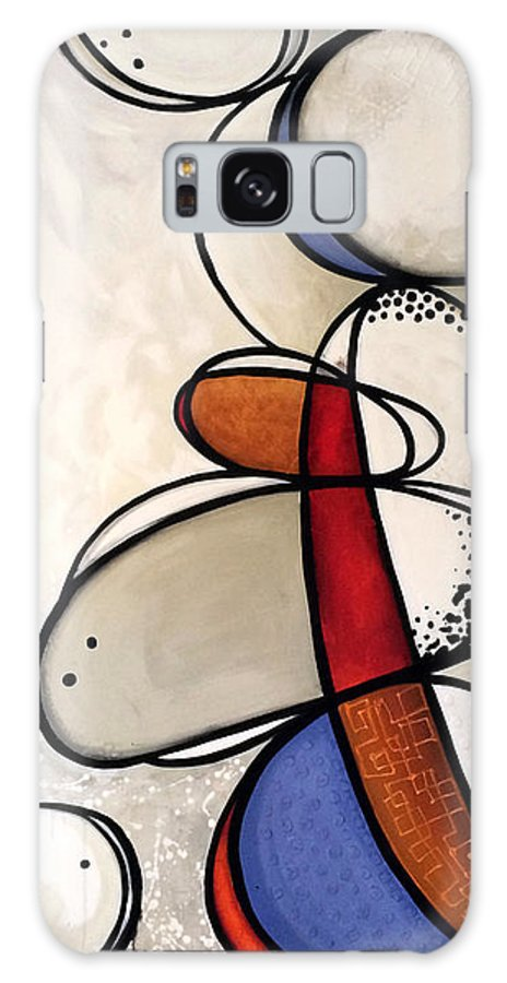 Modern Art Galaxy Case featuring the painting Rock Sculpture Frenzy by Jill English