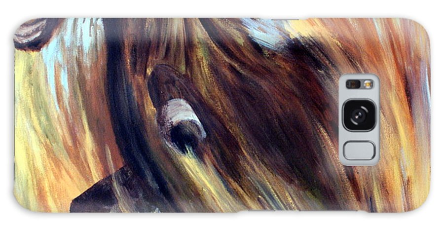 Horse Galaxy S8 Case featuring the painting Rock Star by Joanne Smoley