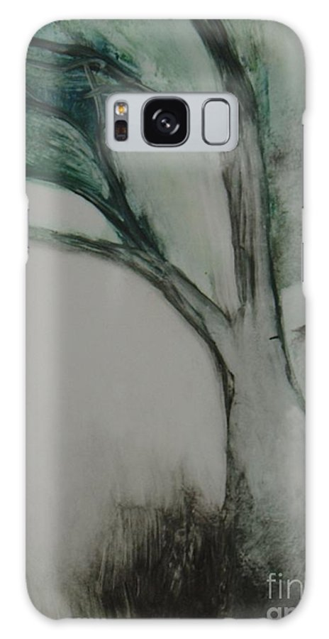 Monoprint Tree Rock Trees Galaxy S8 Case featuring the painting Rock Tree by Leila Atkinson
