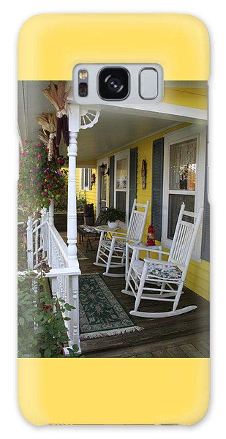 Rocking Chair Galaxy S8 Case featuring the photograph Rockers On The Porch by Margie Wildblood