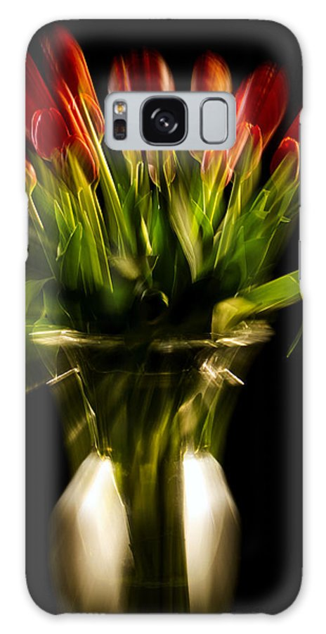 Photography Galaxy S8 Case featuring the photograph Rocket Propelled Tulips by Frederic A Reinecke