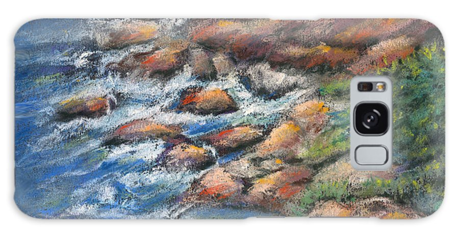 Rocks Galaxy Case featuring the pastel Rocks Along The Shore by Arline Wagner