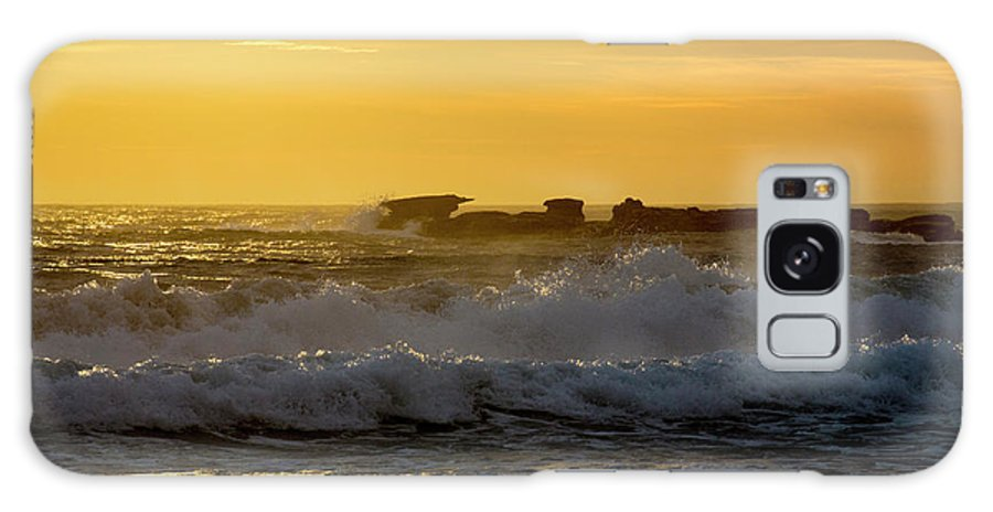 Palm Beach Galaxy S8 Case featuring the photograph Rocks At Palm Beach At Sunrise by Sheila Smart Fine Art Photography
