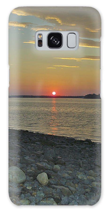 Rock Galaxy S8 Case featuring the photograph Rocks Watch The Sunset by Faith Harron Boudreau