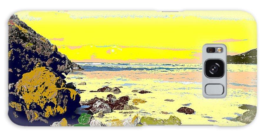 Beach Galaxy Case featuring the photograph Rocky Beach by Ian MacDonald