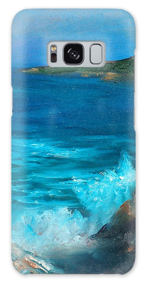 Ocean Galaxy S8 Case featuring the painting Rocky Cove by Sally Seago