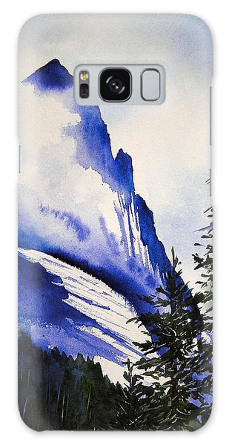 Rocky Mountains Galaxy Case featuring the painting Rocky Mountain High by Karen Stark