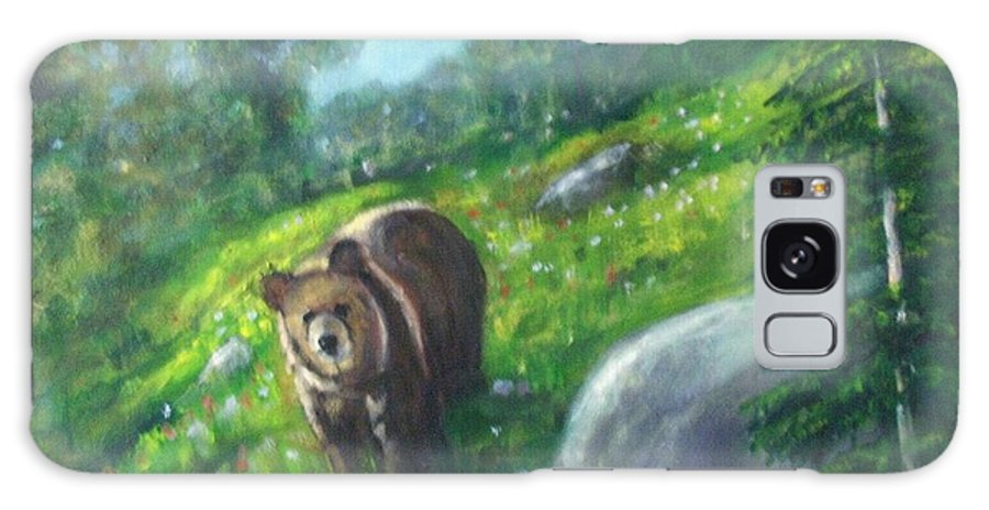 Wildlife Galaxy S8 Case featuring the painting Rocky Mountain Spring by Darla Joy Johnson