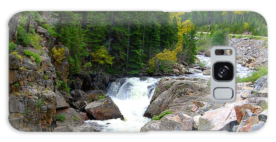 Landscape Galaxy Case featuring the photograph Rocky Mountain Stream by John Lautermilch
