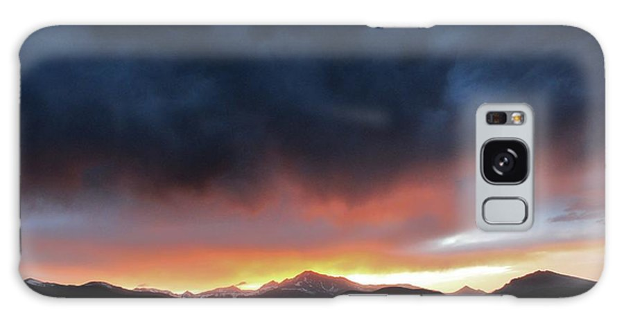 Nature Galaxy S8 Case featuring the photograph Rocky Mountain Sunset by David Broome