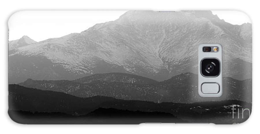 Twin Peaks Galaxy S8 Case featuring the photograph Rocky Mountain Twin Peaks Bw by James BO Insogna