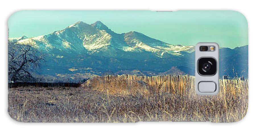 Mountains Rocky Mountains Galaxy S8 Case featuring the photograph Rocky Mountain Twin Peaks Wood Fence View by James BO Insogna