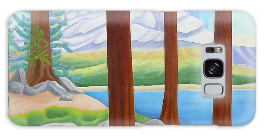 Landscape Galaxy Case featuring the painting Rocky Mountain View 1 by Lynn Soehner