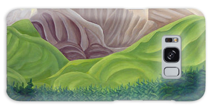 Landscape Galaxy Case featuring the painting Rocky Mountain View 4 by Lynn Soehner