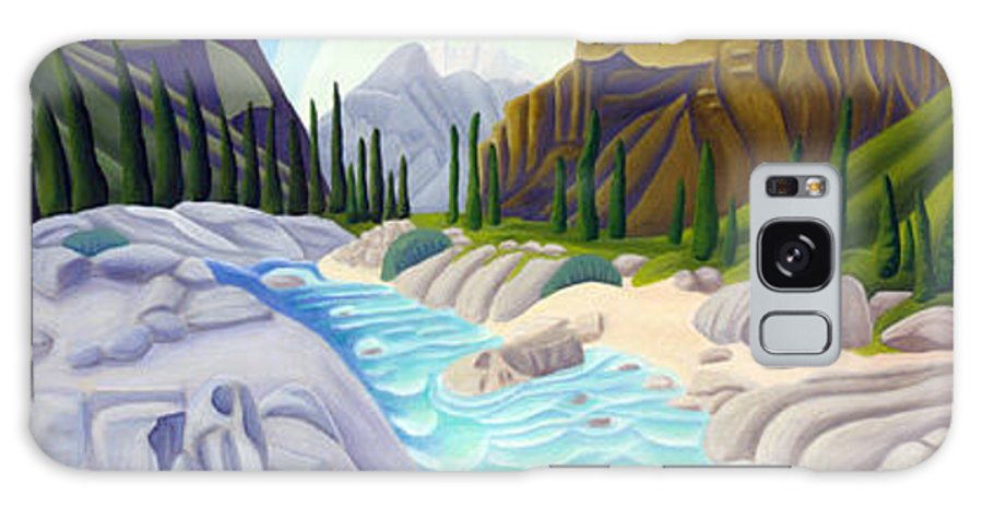 Landscape Galaxy Case featuring the painting Rocky Mountain View 5 by Lynn Soehner