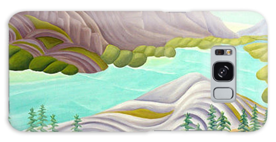 Landscape Galaxy Case featuring the painting Rocky Mountain View 6 by Lynn Soehner