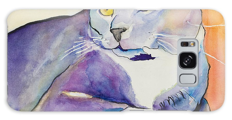 Pat Saunders-white Galaxy Case featuring the painting Rocky by Pat Saunders-White