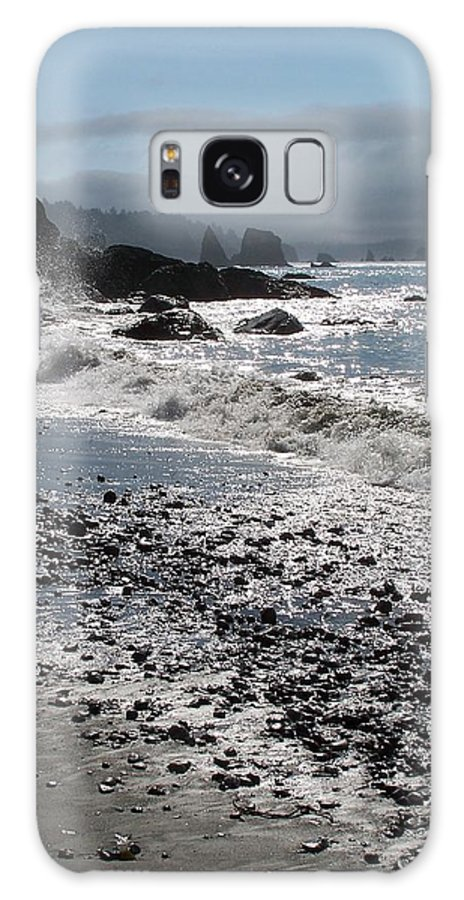 Ocean Galaxy S8 Case featuring the photograph Rocky Shores by Gale Cochran-Smith