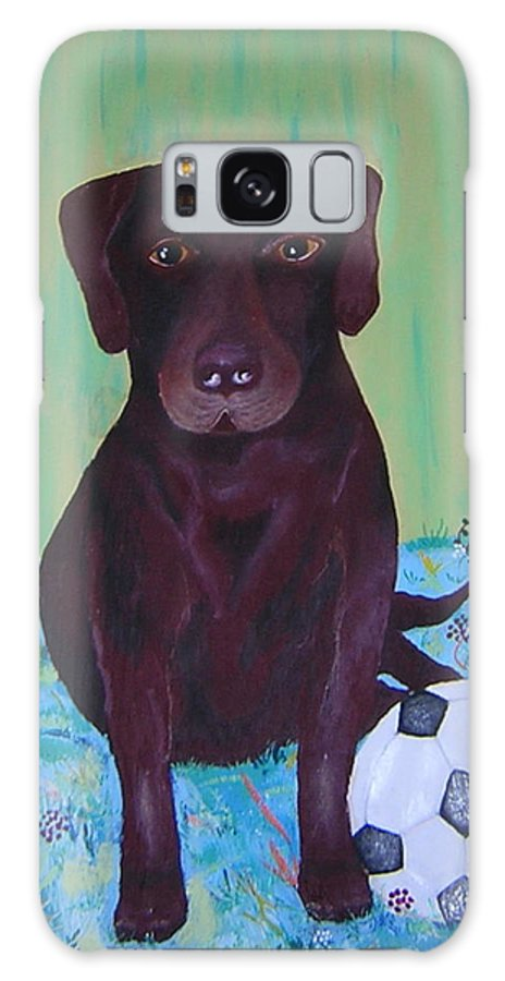 Dog Galaxy S8 Case featuring the painting Rocky by Valerie Josi