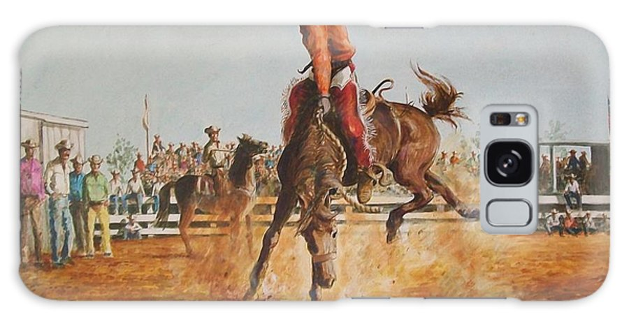 Horse Galaxy Case featuring the painting Rodeo by Perrys Fine Art