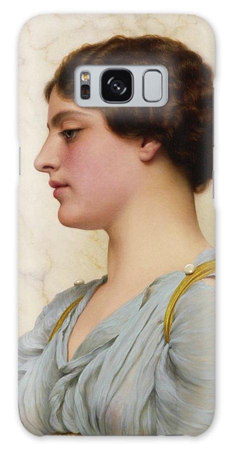 John William Godward 1861 - 1922 A Roman Beauty Galaxy S8 Case featuring the painting Roman Beauty by John William