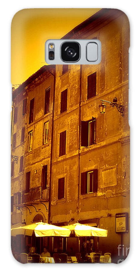 Italy Galaxy S8 Case featuring the photograph Roman Cafe With Golden Sepia 2 by Carol Groenen