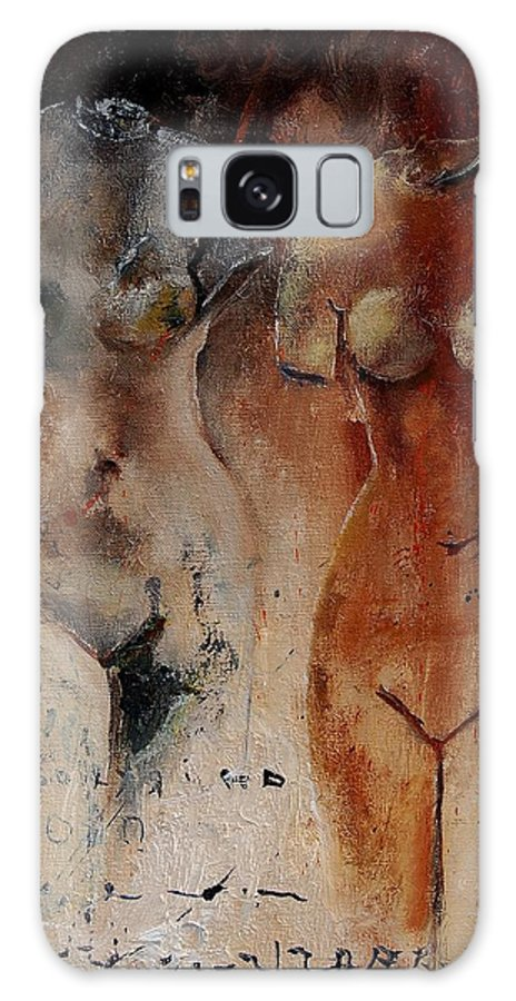 Nude Galaxy S8 Case featuring the painting Roman Nudes 45 by Pol Ledent
