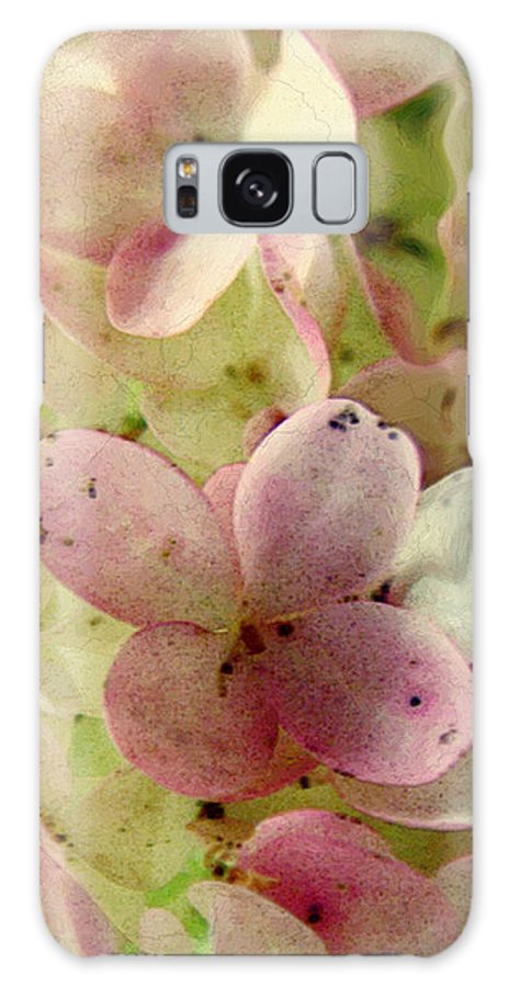 Floral Galaxy S8 Case featuring the digital art Romance In Pink And Green by RC DeWinter