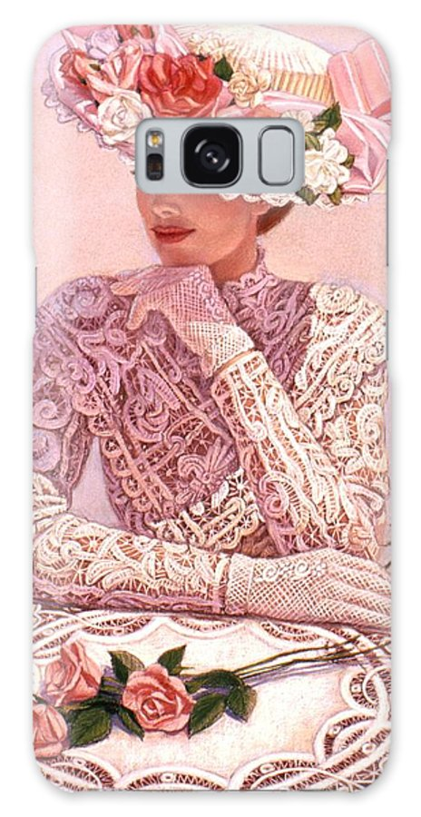 Woman Galaxy S8 Case featuring the painting Romantic Lady by Sue Halstenberg