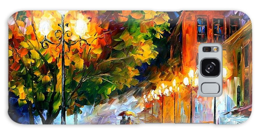 Afremov Galaxy S8 Case featuring the painting Romantic Night by Leonid Afremov