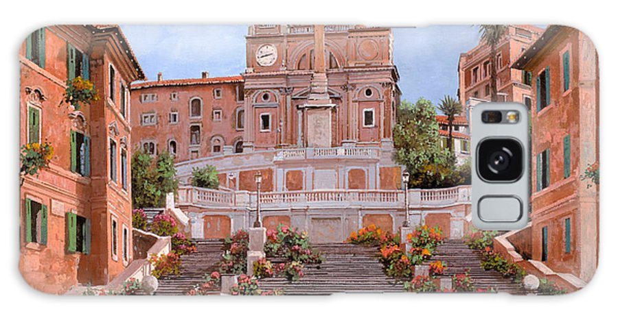 Rome Galaxy S8 Case featuring the painting Rome-piazza Di Spagna by Guido Borelli