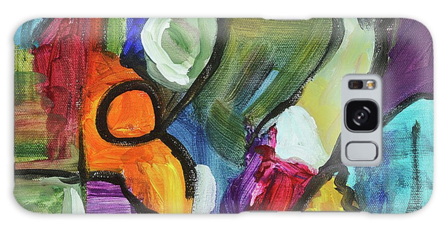 Abstract Acrylic Painting Cathy Hirsh Galaxy S8 Case featuring the painting Rondo by Cathy Hirsh