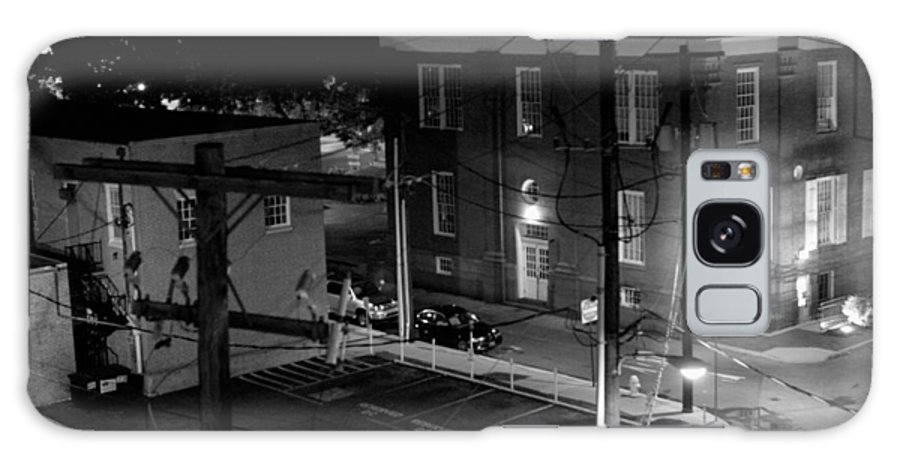 Black White Galaxy Case featuring the photograph Rooftop Court by Jean Macaluso