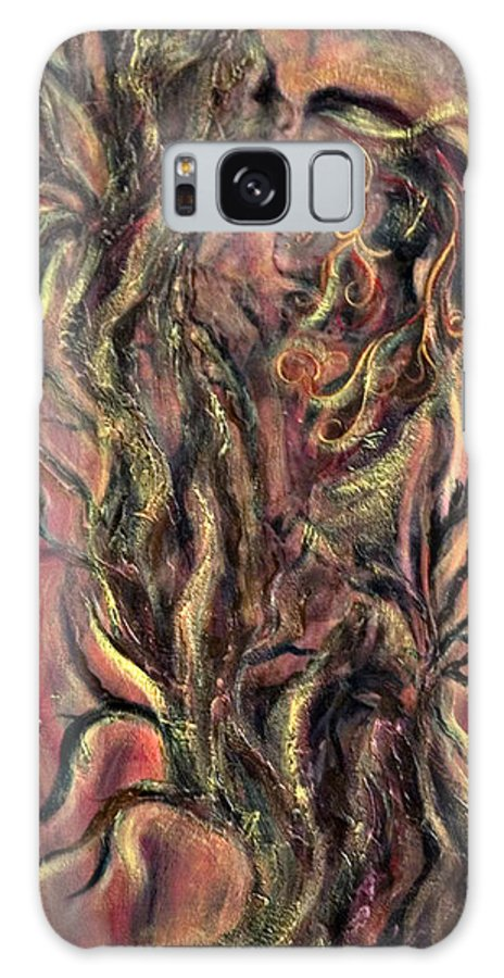 Tree Galaxy S8 Case featuring the mixed media Roots by Jacqueline Milner