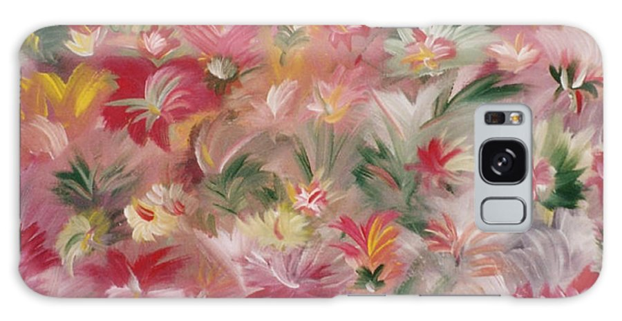 Flowers Galaxy Case featuring the painting Rosa Bluetenmeer by Michael Puya