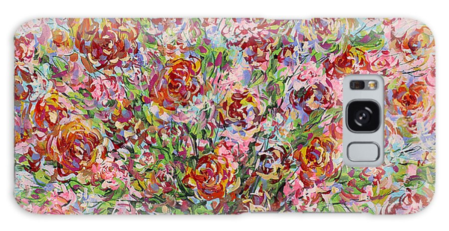 Flowers Galaxy S8 Case featuring the painting Rose Bouquet In Glass Vase by Leonard Holland