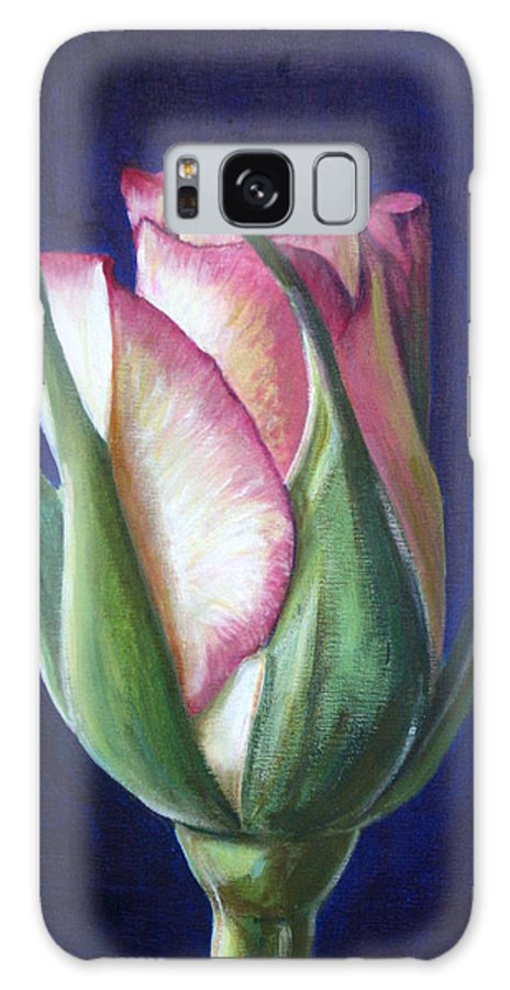 Rose Galaxy S8 Case featuring the painting Rose Bud by Fiona Jack
