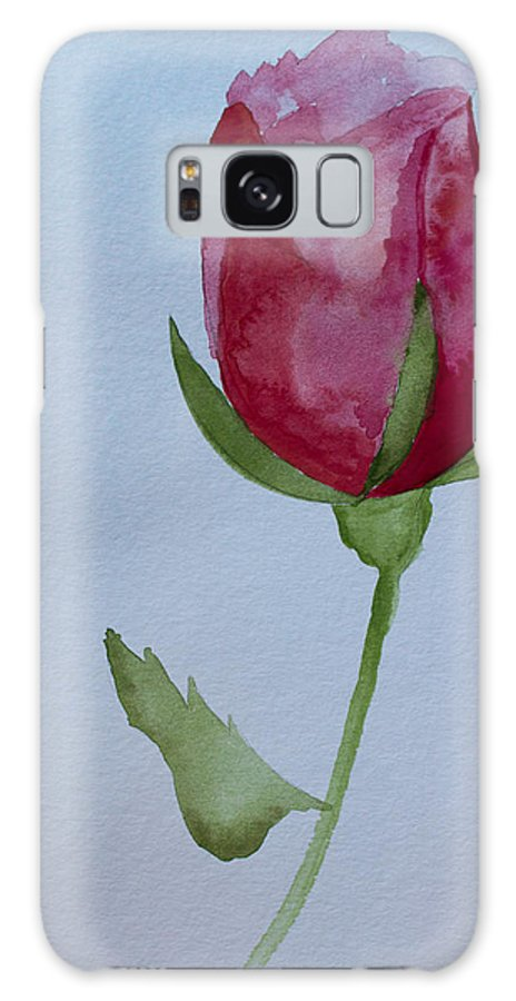 Watercolor Galaxy S8 Case featuring the painting Rose by Heidi Smith