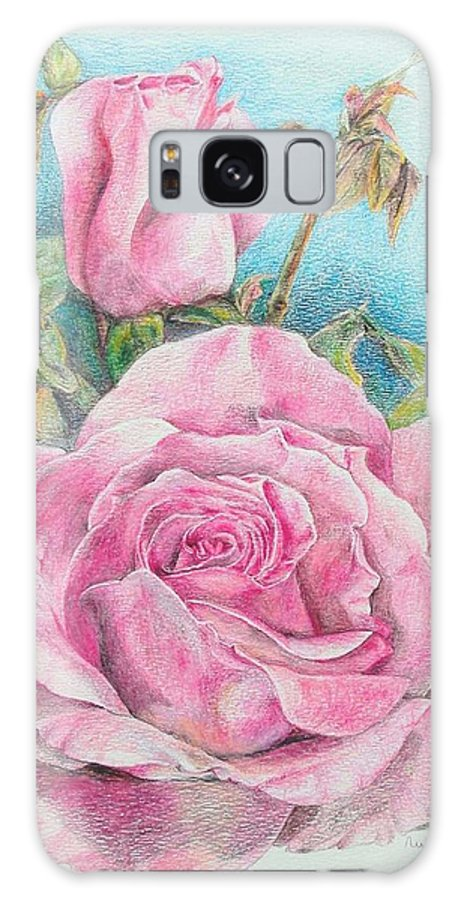 Flower Galaxy S8 Case featuring the painting Rose by Muriel Dolemieux