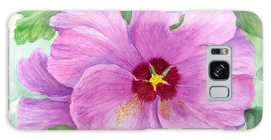 Watercolour Galaxy S8 Case featuring the painting Rose Of Sharon by Peggy King