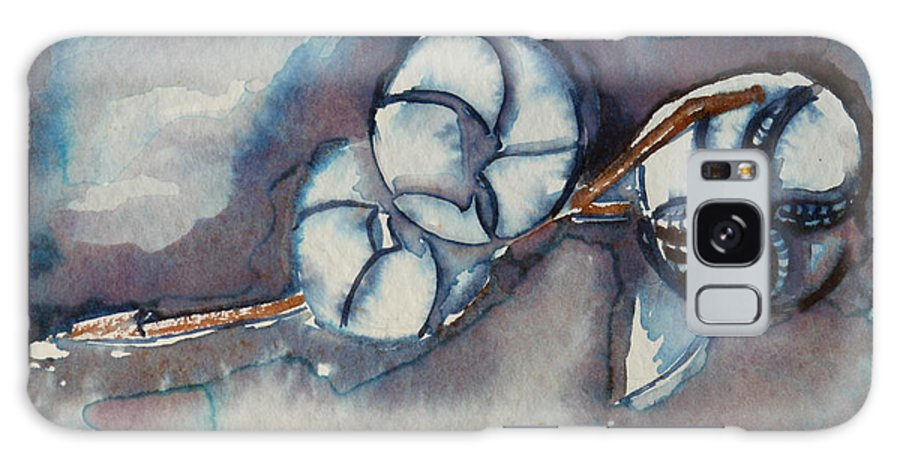 Flower Galaxy S8 Case featuring the painting Rose Of Sharon Seed Pods by Diana Davenport