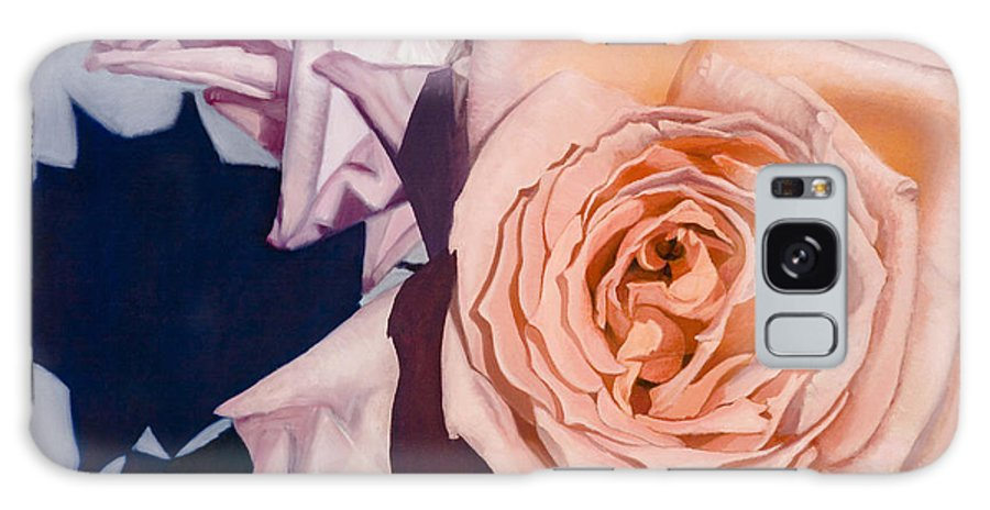 Roses Galaxy S8 Case featuring the painting Rose Splendour by Kerryn Madsen-Pietsch