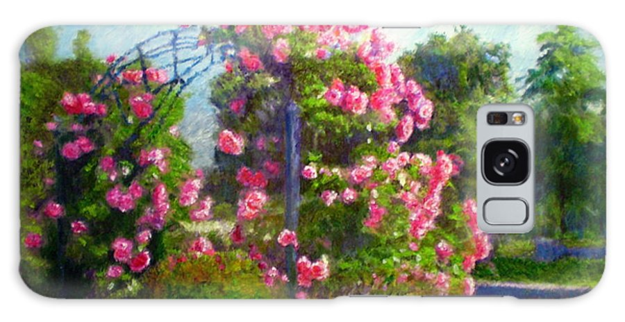 Rose Galaxy S8 Case featuring the painting Rose Trellis by Michael Durst