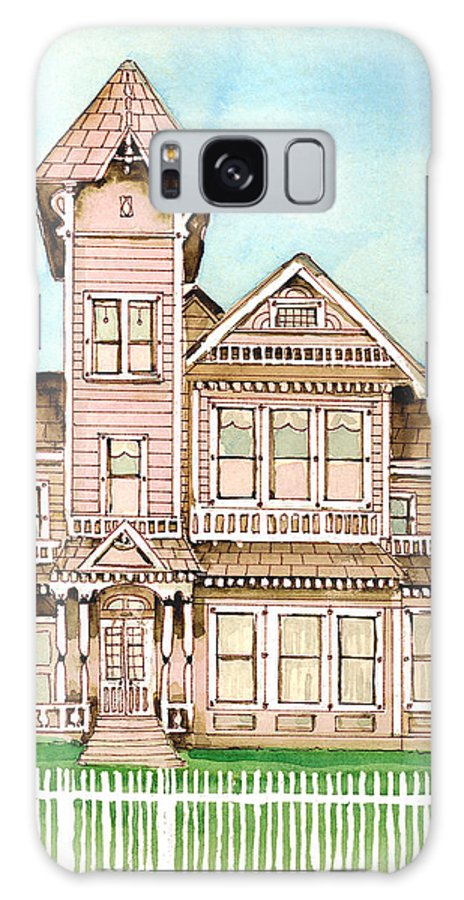 Victorian Inn Galaxy S8 Case featuring the painting Rose Victorian Inn - Arroyo Grande Ca 1886 by Arline Wagner