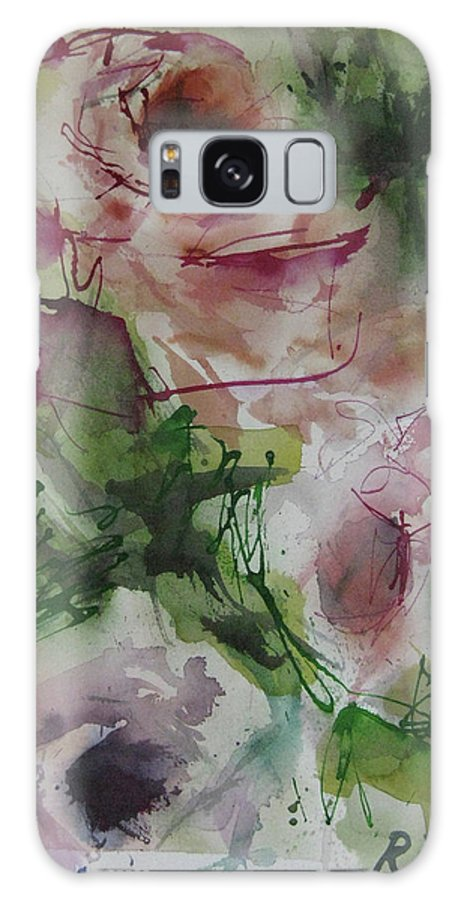 Rose Galaxy S8 Case featuring the painting Rosebuds by Robert Joyner